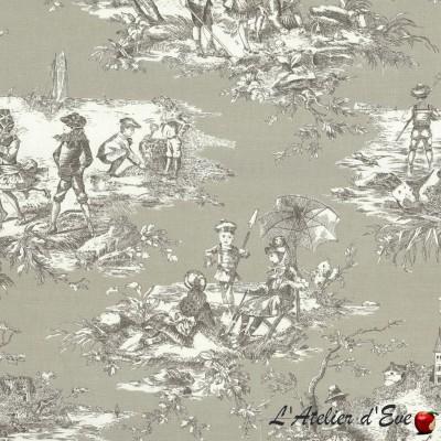 """""""Othello"""" yellow Coupon fabric furniture Thevenon"""