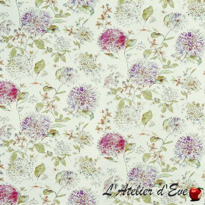 """Olivia"" Floral cotton upholstery fabric Bloom Prestigious Textiles"
