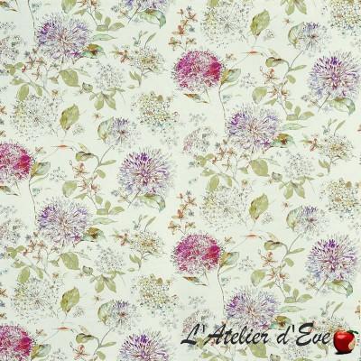 """""""Lila"""" Thistle Coupon 200x140cm Tissu ameublement coton fleuri Bloom Prestigious Textiles"""