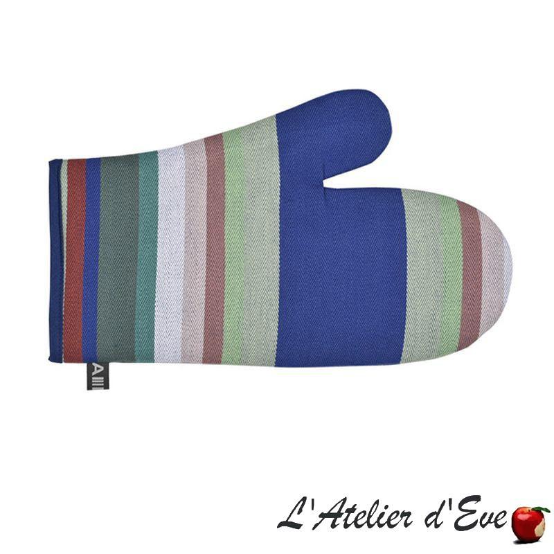 """""""Aroue"""" Organic cotton basque canvas mitten 30x19cm Artiga"""