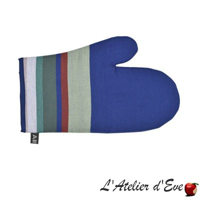 """Aroue"" Plain mitten organic cotton basque canvas 30x19cm Artiga"
