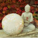 """Zafu"" Pineapple Meditation cushion Made in France L'Atelier d'Eve"