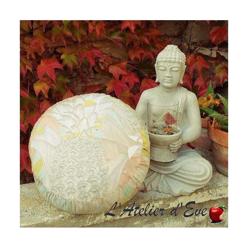 """Zafu"" Love Birds Meditation cushion Made in France L'Atelier d'Eve"