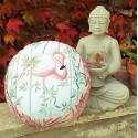 """Zafu"" Flamingo rose Coussin de méditation Made in France L'Atelier d'Eve"