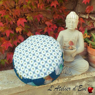 """Zafu"" Mosaic Meditation cushion Made in France L'Atelier d'Eve"