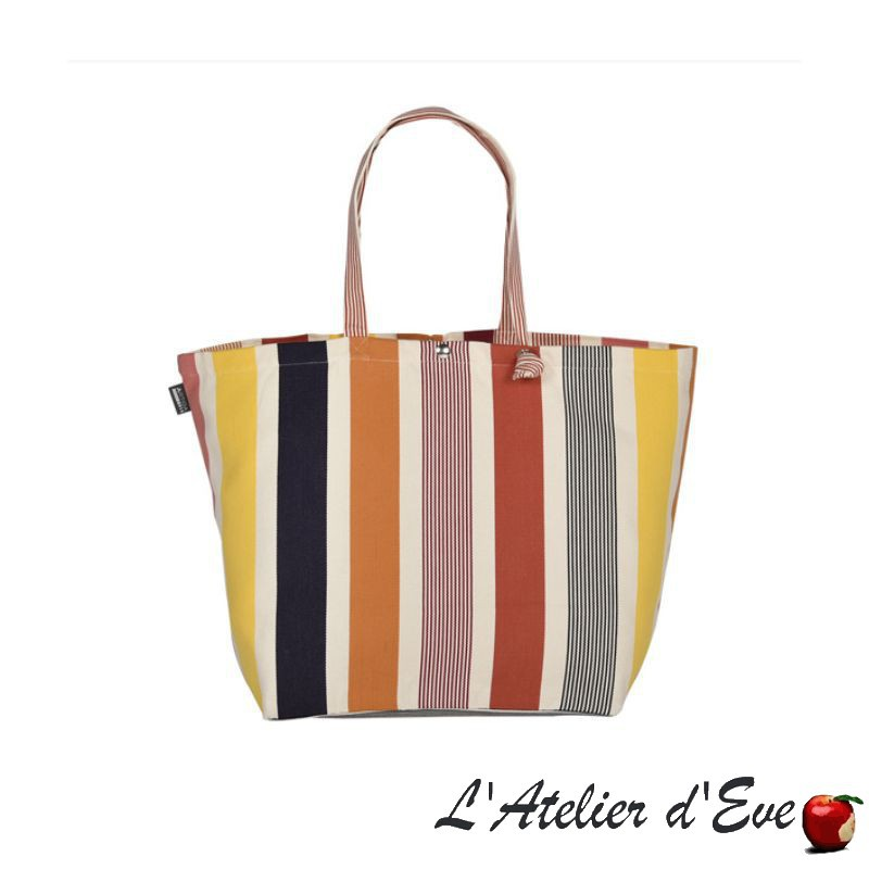"""Iholdy"" Artiga coated canvas adjustable bag Made in France"