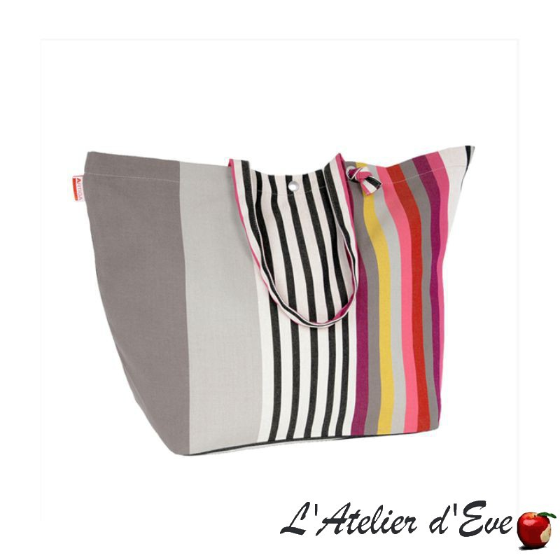 """Iholdy"" Adjustable bag organic cotton coated Artiga Made in France"