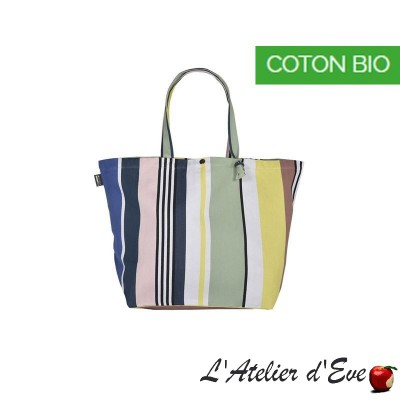 """Iholdy"" Artiga coated canvas adjustable bag Made in France"