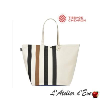 """Lacquy"" Adjustable bag cotton coated Artiga Made in France"
