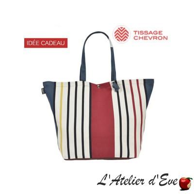 """Bidos"" Artiga coated cotton adjustable bag Made in France"
