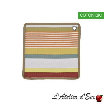 """Garazi"" Organic cotton potholder basque canvas 20x20cm Artiga"