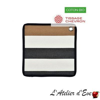 """Sauvelade ecru"" Potholder cotton canvas basque 20x20cm Artiga"
