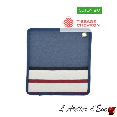 """Tastes"" Pot holder organic cotton basque canvas 20x20cm Artiga"