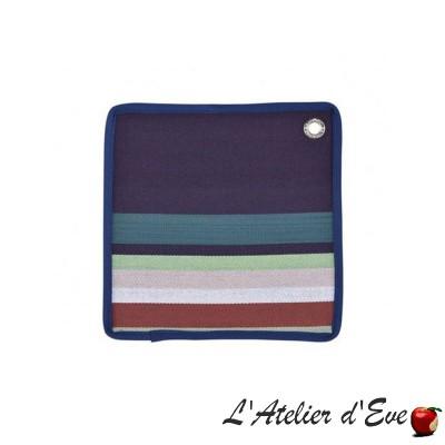 """""""Aroue"""" Potholder organic cotton basque canvas 20x20cm Artiga"""