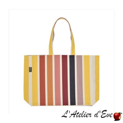 """Garlin ocre"" Sac cabas tote bag Artiga Fabriqué en France"