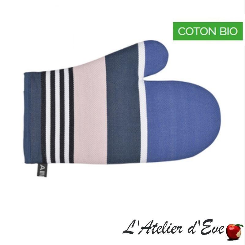"""""""iHoldy bleu"""" Moufle coton bio toile basque 30x19cm Artiga"""