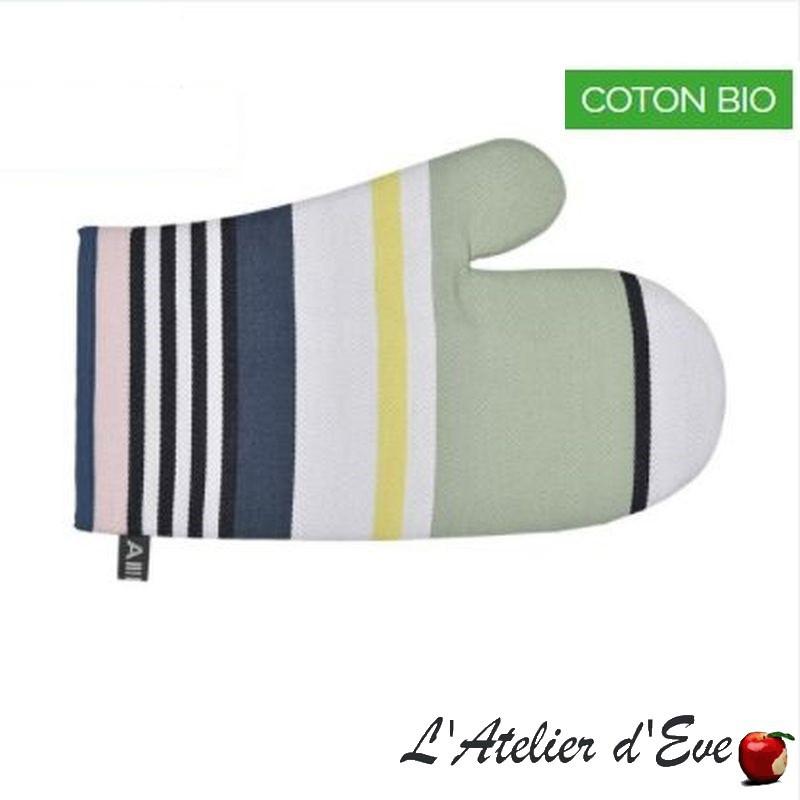 """""""iHoldy vert"""" Moufle coton bio toile basque 30x19cm Artiga"""