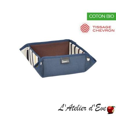 """""""Lacquy"""" Basket organic cotton basque canvas 8x17x17cm Artiga"""