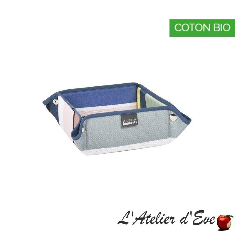 """""""Iholdy"""" Panière coton bio toile basque 8x17x17cm Artiga"""
