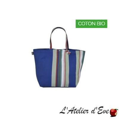 """Aroue"" Artiga coated organic cotton adjustable bag Made in France"
