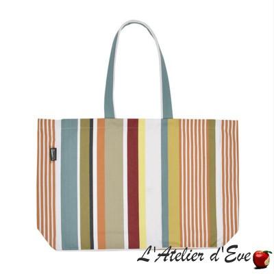 """""""Sauvelade"""" ecru / navy Tote bag tote bag Artiga Made in France"""
