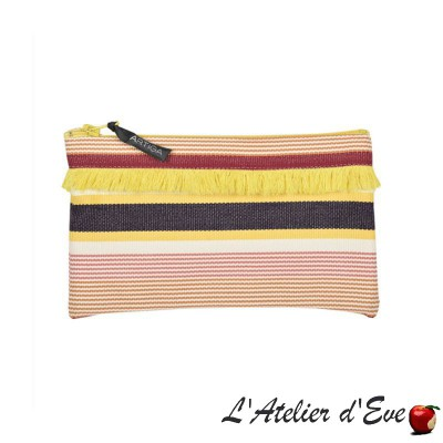 """Garlin ocher"" Artiga fringed case Made in France"
