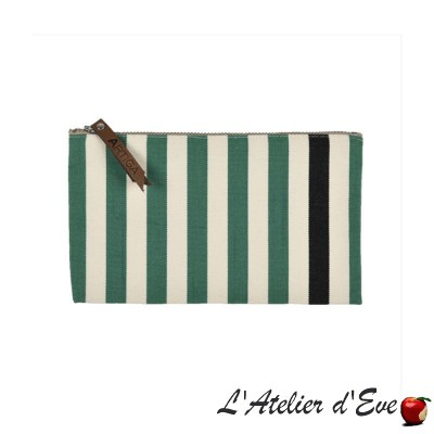 """Lacquy vert"" Trousse plate Artiga Made in France"
