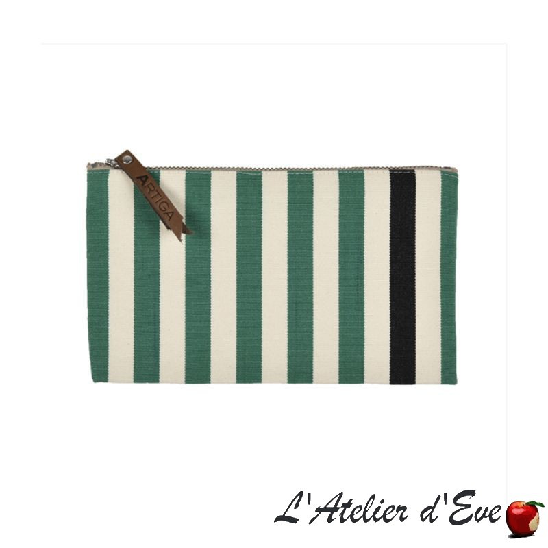 """Lacquy vert"" Trousse plate Artiga Made in France"