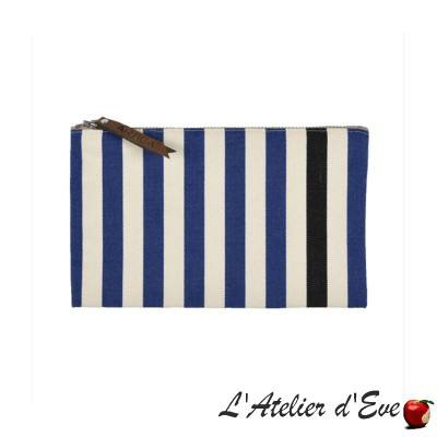 """Lacquy bleu"" Trousse plate Artiga Made in France"