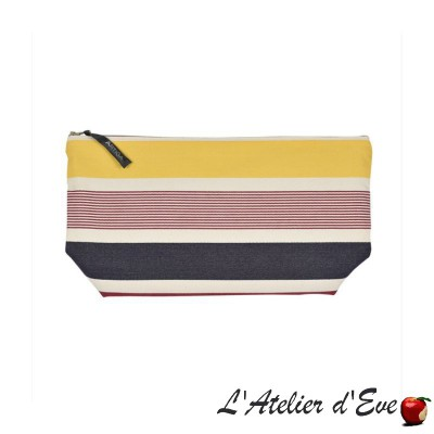 """Garlin ocher"" Artiga toiletry bag Made in France"