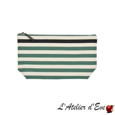 """Lacquy vert"" Artiga toiletry bag Made in France"