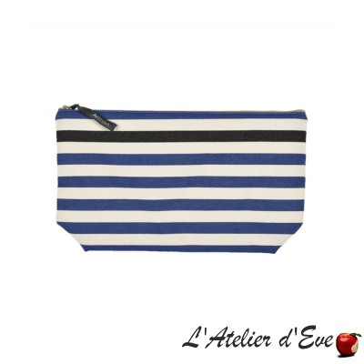 """Lacquy bleu"" Artiga toiletry bag Made in France"