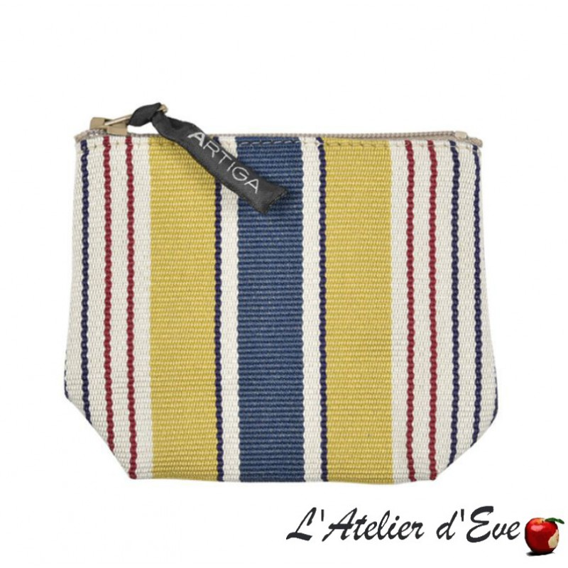 """Garlin ocher"" Artiga Made in France purse"