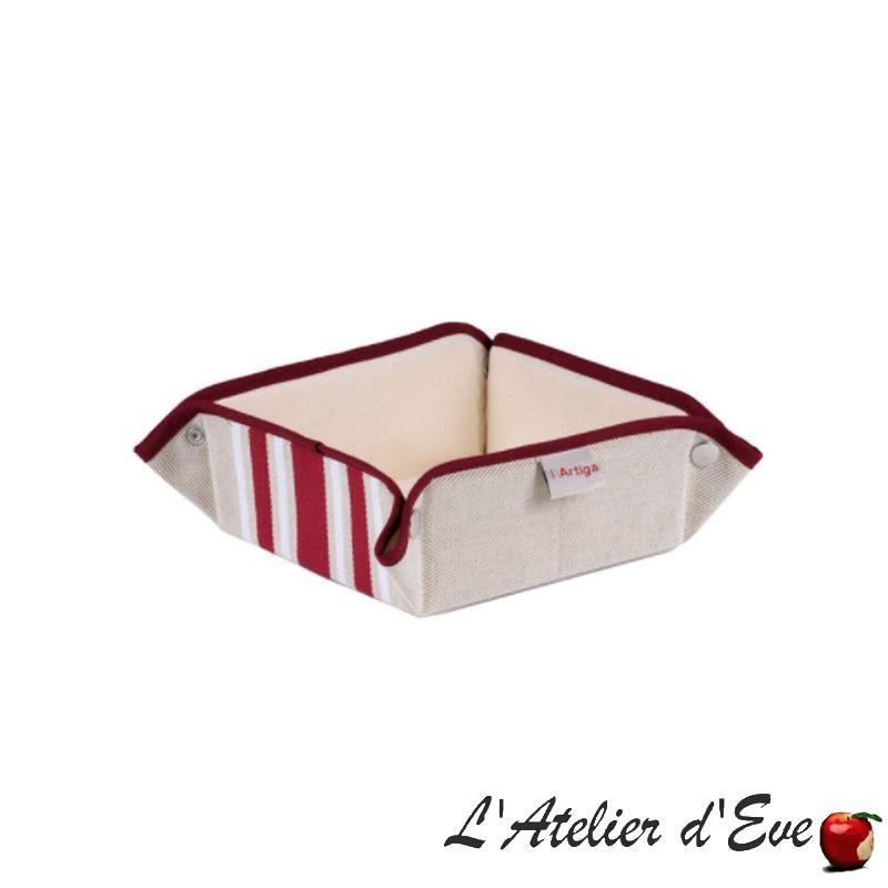 """""""Corda metis"""" Panière coton/lin toile basque 8x17x17cm Artiga"""