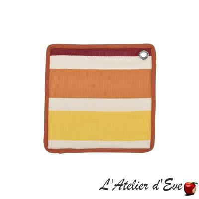 """""""Garlin"""" Potholder cotton canvas basque 20x20cm Artiga"""