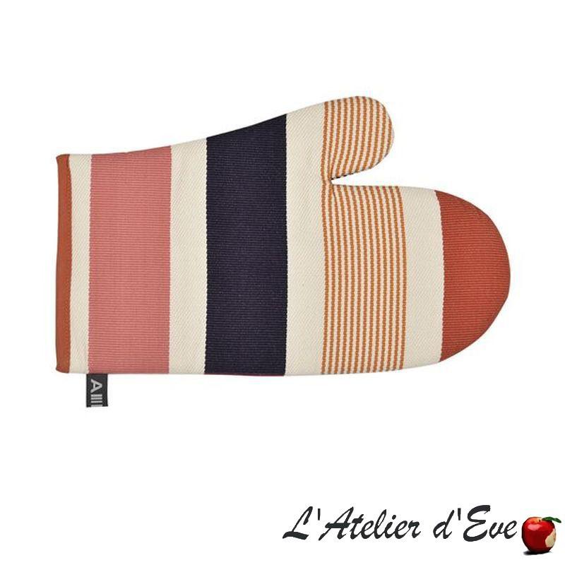 """""""Garlin ocre"""" Moufle coton toile basque 30x19cm Artiga"""