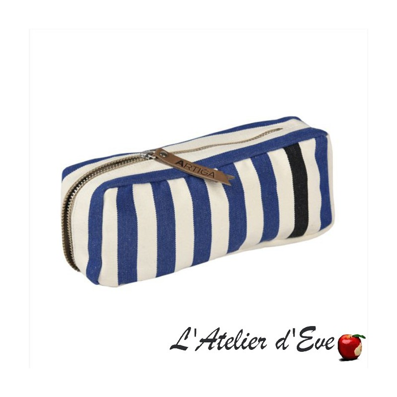 """Lacquy vert"" Artiga pencil case Made in France"