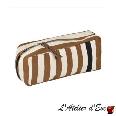 """""""Lacquy bleu"""" Léonie Artiga pencil case Made in France"""