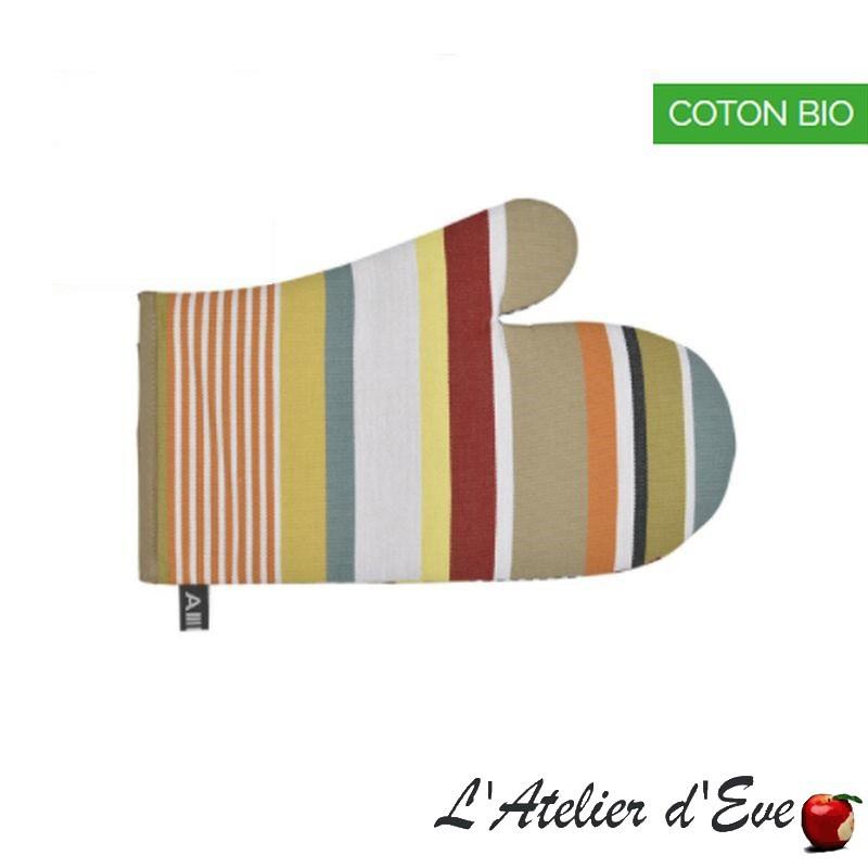 """Garazi"" Organic cotton mitten basque canvas 30x19cm Artiga"