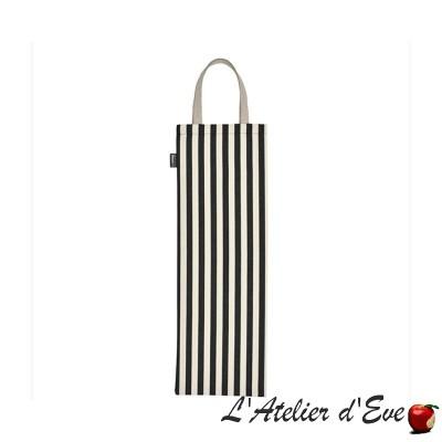"""""""Mauléon celadon"""" Artiga cotton bread bag Made in France"""