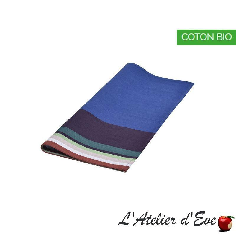"""Aroue"" Serviette coton biologique toile basque Made in France 50x50cm Artiga"