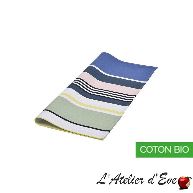 """Iholdy"" Serviette coton biologique toile basque Made in France 50x50cm Artiga"