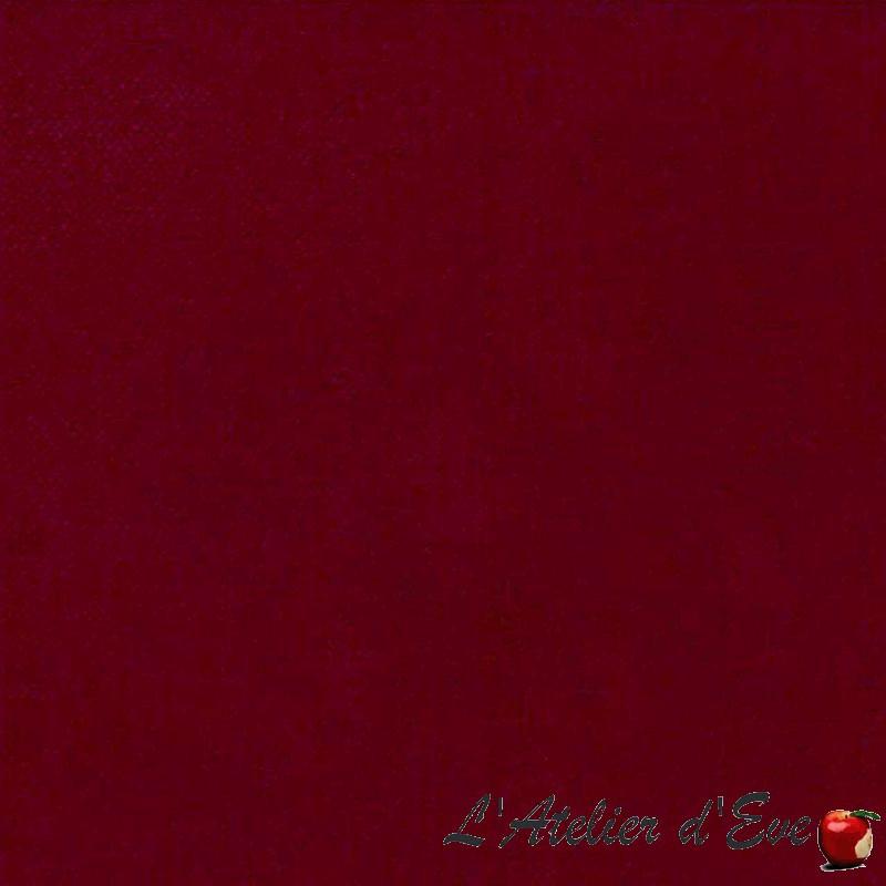 """""""Lemming"""" Tissu velours non feu M1 rouge/ciglia Casal"""