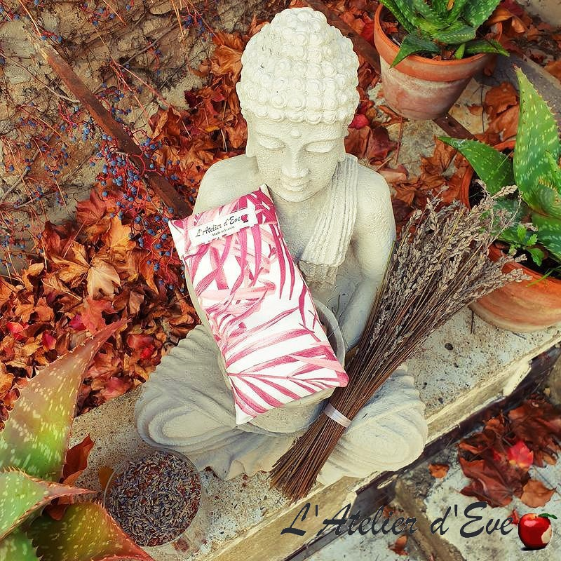 """Coussin relaxant pour les yeux """" Palma rose"""" Made in France L'Atelier d'Eve"""