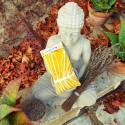 """Coussin relaxant pour les yeux """" Rio jaune"""" Made in France L'Atelier d'Eve"""