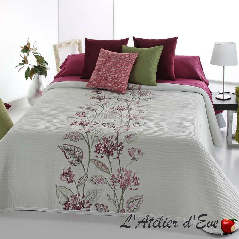 """""""Darlin"""" Couvre-lit fleuri ton de roses polycoton lavable Reig Marti C.02"""