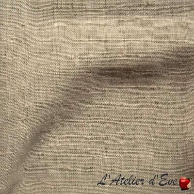 """""""Lin lavé"""" beige Coupon 100x140cm Toile de lin Thevenon"""
