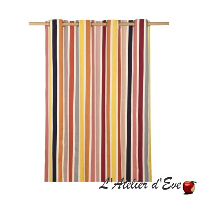 """Bidos"" Basque canvas curtain Artiga Made in France"