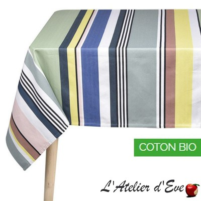 """Iholdy"" Nappe coton bio toile basque Made in France Artiga"