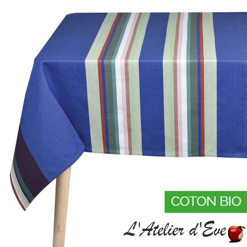 """""""Aroue"""" Nappe coton bio toile basque Made in France Artiga"""